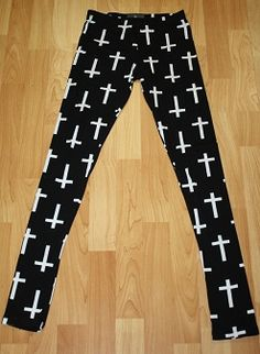 Cross Printed Leggings! Get them here >> http://www.smalltowngypsy.com/catalog.php?item=2623 Like us on facebook!