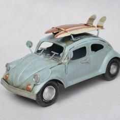 INFPASS:: Handmade Antique Tin Model Car-Beetle