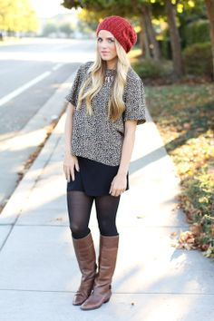 You can wear brown boots with black :)