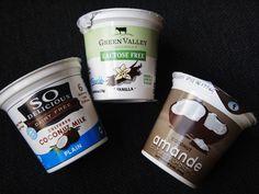 Fodmap | Low Fodmap Diet- Lactose Free Yogurts Coconut Milk and Almond Milk