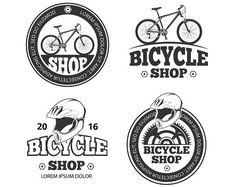 Bicycle shop, bike sport logos. Sport Icons. $5.00