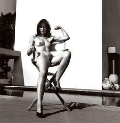 1981 Miss Livingston sitting, Beverly Hills.