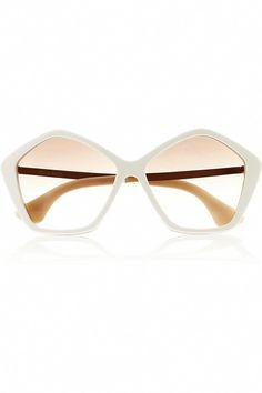 92ca93e59a32 A modern twist on seventies-inspired nostalgia. Miu Miu Hexagonal-frame  acetate and metal sunglasses