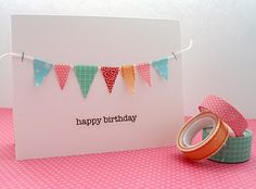 bunting card.  Washi Tape on sale today for $1.50 per roll!  http://www.utahsweetsavings.com/?p=81432