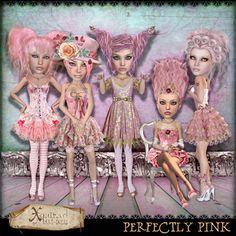 Perfectly Pink Art-dolls