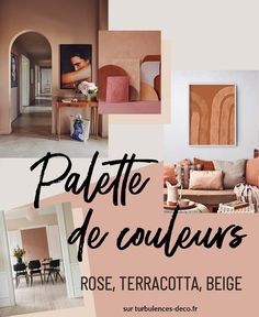 [ Inspiration déco ] Palette de couleurs terracotta, rose, beige et brun à retrouver sur Turbulences Déco Rose Beige, Turbulence Deco, Palette, Blush Roses, Color, Home Decor, Parquetry, Brown, Bath