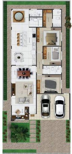 4 Bedroom House Designs, Duplex House Design, House Layout Plans, House Layouts, House Plans Mansion, House Floor Plans, Home Building Design, Building A House, Model House Plan
