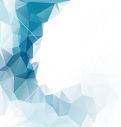 Blue polygonal mosaic background vector