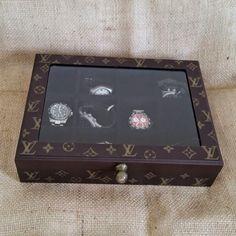 0affbe22e44 Arte lá em casa  Caixa para Relógio - Louis Vuitton