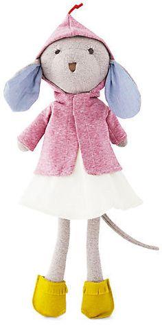 Catalina Mouse Plush Doll - Pink - Hazel Village
