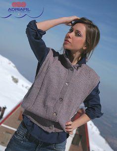 Ravelry: Adriafil gilet/waistcoat Deciso pattern by Adriafil Yarn