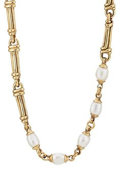 We Adore: The Pearl Necklace from Goossens Paris at Barneys New York Paper Jewelry, Jewelry Necklaces, Pearl Jewelry, Balenciaga Bracelet, Pearl Necklace, Beaded Necklace, Baroque Pearls, Necklace Designs, Jewelry Trends
