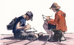 Confidence-boosting advice for urban sketching