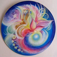 Mandala Art- Silk Art - Original Spiritual Paintings by EditaBlazekAtelier Mandala Painting, Mandala Art, Painting & Drawing, Spiritual Paintings, Zentangle Drawings, Zentangle Patterns, Doodle Art Journals, Shape Art, Silk Art