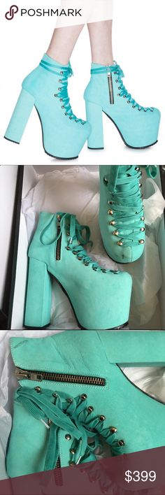 f588fd8a870b UNIF Suede Turquoise Hellbounds COME TO ME. We ve got a devil on our · Platform  BootsDevilUnifProjectsCasual ...