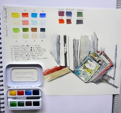 MHBD's Blog: Sennelier mini watercolour set