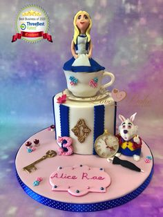 Alice in Wonderland by Love2bake- Aug 2020 Alice In Wonderland Cakes, Cake Business, Cake Makers, Novelty Cakes, Homemade Cakes, Plymouth, Cake Ideas, Birthday Cake, Baking