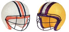 SEC Game tomorrow night a Battle of the TIGERS... Auburn vs #6 LSU Get your College Team ornament helmets now. #auburn #tigers #lsu #tigers #college #football #sec #helmets #ornaments