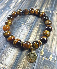 Men's or womens earth bracelet mens bracelet beaded by SJIJewelry