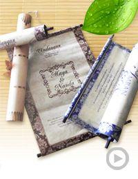 undangan gulung bambu / natural bamboo invitation Rp. 3500/pcs