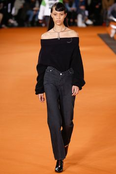 Opening Ceremony Fall 2016 Ready-to-Wear Fashion Show - Selena Forrest Fashion Show 2016, Fashion Week, Fashion 2017, Runway Fashion, Fashion Outfits, White Fashion, Denim Fashion, Choker, Winter Trends