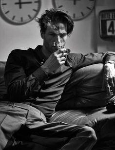 Fetish man drunk cigar