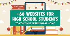 60 Educational Websites for High School Students During the Quarantine Science Websites, List Of Websites, Educational Websites, Study Websites, Educational Leadership, Websites For Students, Teach Dance, Online High School, High School History