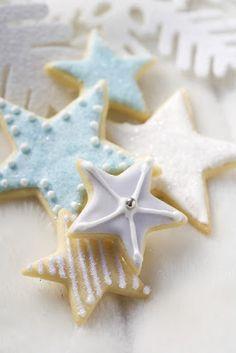 Blue icing so sweet star cookies