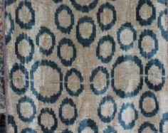 Yuner / Silk Velvet, uzbek ikat fabric, 3 yard