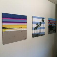"Gallery: Pop series - from left to right - ""Crystal Pier - Morning"", ""La Jolla Shores"" and ""Tourmaline Surf Park"" - 24 x 24 inch, digital art & gel on canvas ------------------------------------ #art #artist #popart #popartist #digitalart #contemporary #contemporaryart #tournalinesurfingpark #pacificbeach #lajolla #lajollashores #california #surf #surfer #surfing #beach #sunset #sunrise #colorful #cmyk #summer #feelgood #lifeisgood #artonwall #jonsavagegallery"
