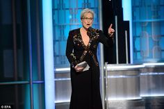 The new luvvie in Tinseltown: Meryl Streep chose her Lifetime Achievement award to launch an attack on Donald Trump in a show of elitist snobbery