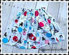 Girls Paris skirt Eiffel Tower Paris girls 2t 3t 4t 4/5 6/6x 7/8 10/12 Ready to Ship