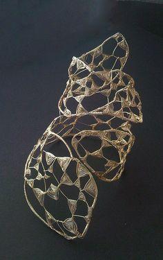 Bracelet | Lena Franolić. Silver plated wire oxidized