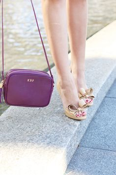Wine Crossbody / Valentino Bows / A Pinch of Lovely