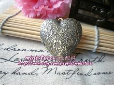 1pcs Antique Brass Large Size Heart locket    SD247 by ministore, $3.75