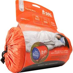 Thermal Bivvy by SOL - Warmth and durability for any season! Non-woven fabric provides waterproof protection from the elements while reflecting 80% of your body's heat back to you. Extremely durable fabric resists rips and tears. We have these in our retail shop! #desertadventures