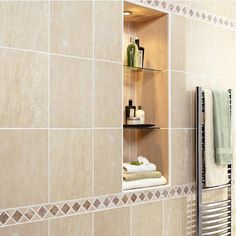Decorative Travertine Tile Borders Wall Features Normandy 9 X 12 In Colors Lumina And Twilight With