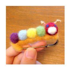 Scarfpin of the green caterpillar Caterpillar, Handicraft, Crochet Earrings, Green, Handmade, Collection, Jewelry, Craft, Hand Made
