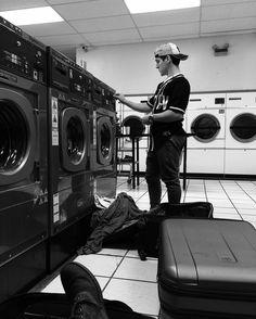 It's laundry day  #seizetheday #newsiesontour #laundryday PC: @iainyoung