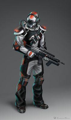 ArtStation - Sci-Fi soldier, Elena Zhurikhina