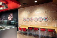 Domino's bar seating   Chute Gerdeman - award-winning retail design and branding.