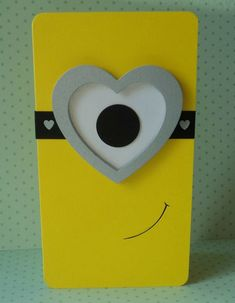Minion Valentine Card- by The Supermums Craft Fair