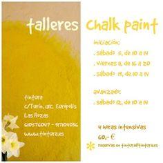 Talleres en Tintura. http://www.tintura.es/cursos-talleres/taller-chalk-paint-iniciacion/