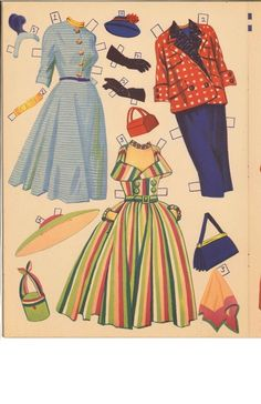 Ann Blyth Paper Dolls (9 of 11), Merrill #2550