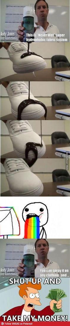 Brilliant! I could finally wear white shoes!