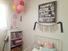 A Happy Girl's Room.  This quote would be PERFECT for a scrapbook page in my girls' books!!!