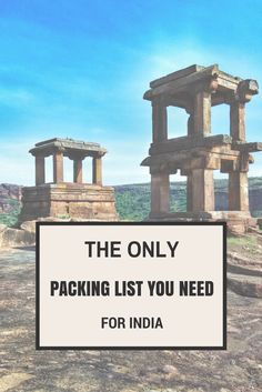 The first thing you have to ask yourself is what part of India am I going to? There are 5 main types of region: Desert City Mountains Beach Jungle (Ghats, Forests) When it comes to packing for the beach, if you are going to Goa or Kerala you'll find this girly beach packing list helpful, but for Kerala you'll need to add a few more conservative items as a solo female traveler.