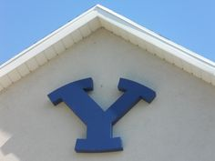 """Y"" ...because rick's a byu fan. he made this for football season Byu Football, Fall Football, Football Season, Byu Sports, Brigham Young University, Lds, Jazz, Letter, Letters"