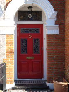 10 Popular Front Door Colors for Brick Houses - Pursuit Decor Victorian Front Doors, Front Door Colors, Brick, House Design, London, History, Entrance Ideas, Amazing, Bespoke