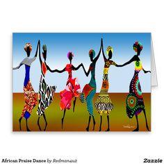 African Praise Dance Greeting Card